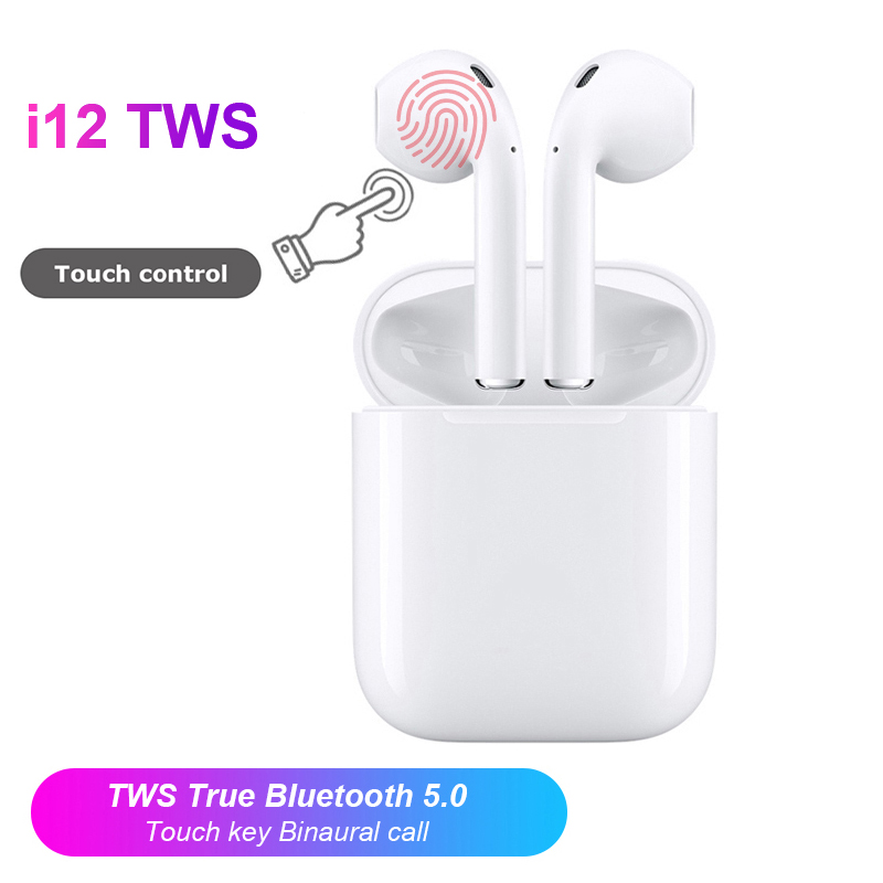 $26.21 2019 i12 Tws New Mini Wireless Bluetooth Earphone 5.0 Stereo Earbud Headset With Charging Box For Xiaomi Huawei Iphone Air Pods