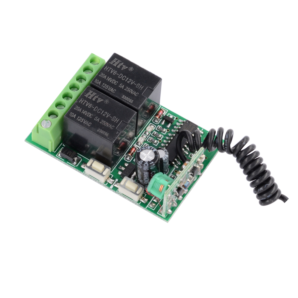 DC 12V 2 CH independent Relay RF Wireless Remote Control Light Switch Mini 2 channel Receiver 315 Mhz 433 Mhz lv h42 keyence digital laser sensor