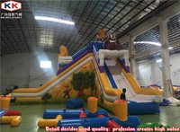 Bears Carton Inflatable Slide For Water Park Ground Pool