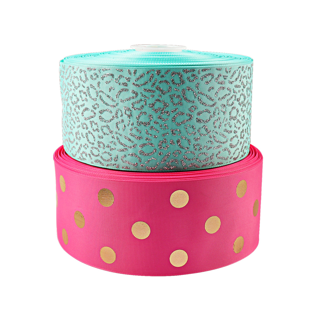 2Y lot 3 quot 75mm Grosgrain Ribbon Laser Glitter Graffiti Ribbon DIY Hairbows Accessories Gifts Holiday Decorations Materials in Ribbons from Home amp Garden