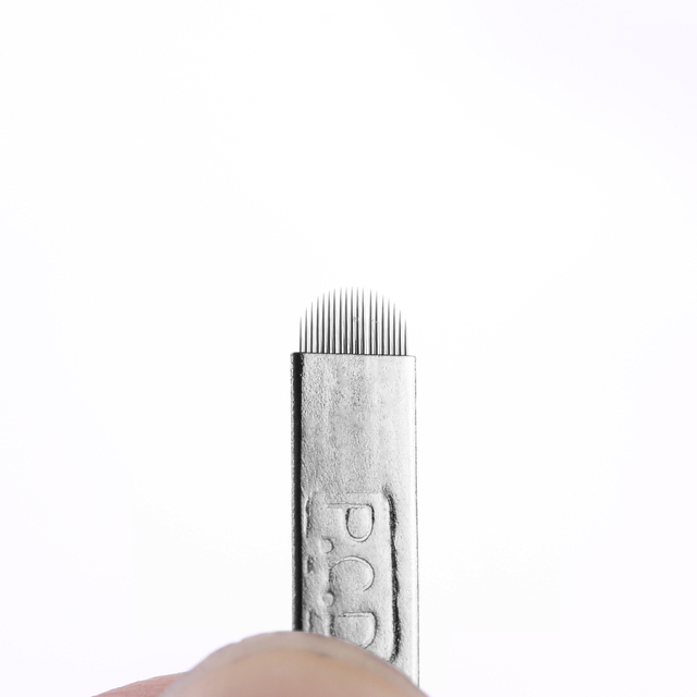 5 Pcs/lot 12/14/19 Pins Bevel U Tattoo Eyebrow Needles Microblading Permanent Makeup Manual Blades Tools NEW 5