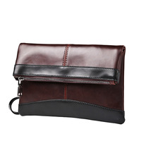 PACGOTH 2017 New Trendy Vintage PU Leather Clutch Bags With Men Zipper Handbag Day Clutches Korean