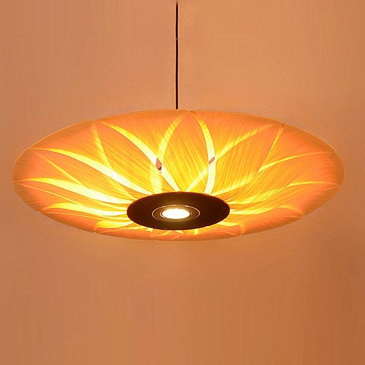 Sdostasiatischen Holzfurnier LED Pendelleuchten Restaurant Wohnzimmer Schlafzimmer Zimmer Hotels Bambus ZA62 ZL1