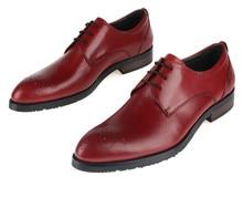 Высочайшее качество Дышащий коричневый загар туфли мужские дерби обувь острым носом из натуральной кожи модные мужские бизнес обувь