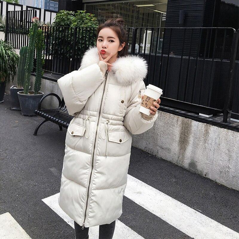273e1d70a US $45.89 49% OFF Winter Female Long Jacket 2018 New Coat Women Fake Fur  Collar Warm Woman Parka Outerwear Down Jacket Winter Jacket Women Coat-in  ...