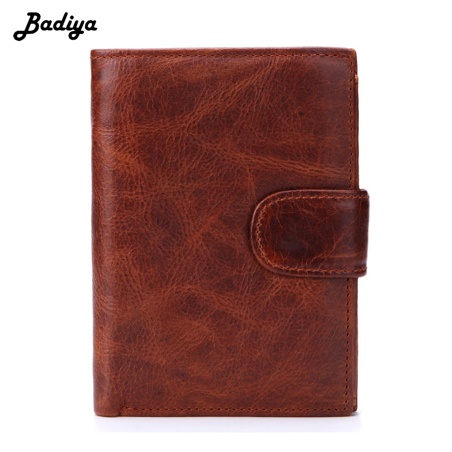Retro Wallet Men Genuine Leather Men's Coin Purse Large Capacity Credit ID Card Holders Luxury Design Business Short Wallets genuine leather wallets men wallet short coin purse vintage wallet brand id credit card zipper pocket wallet purse