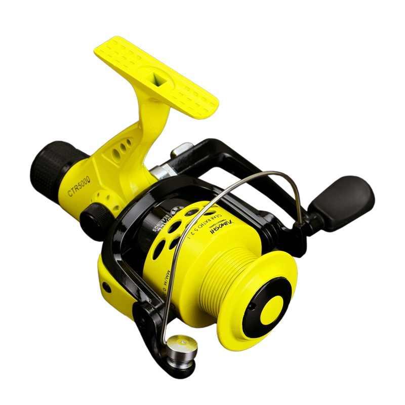 Kołowrotki 2000-7000 12BB 5.5: 1 kołowrotek składany ramię Rocker lekkie tylne przeciągnij plastikowa szpula ryby Spinning koła