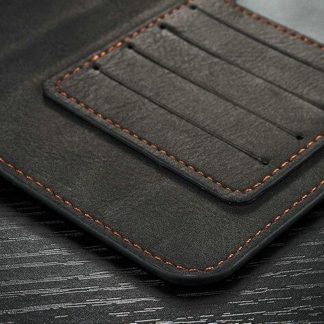Populära Caseme 2 i 1 kortspalter äkta läder plånbok väska - Reservdelar och tillbehör för mobiltelefoner - Foto 5