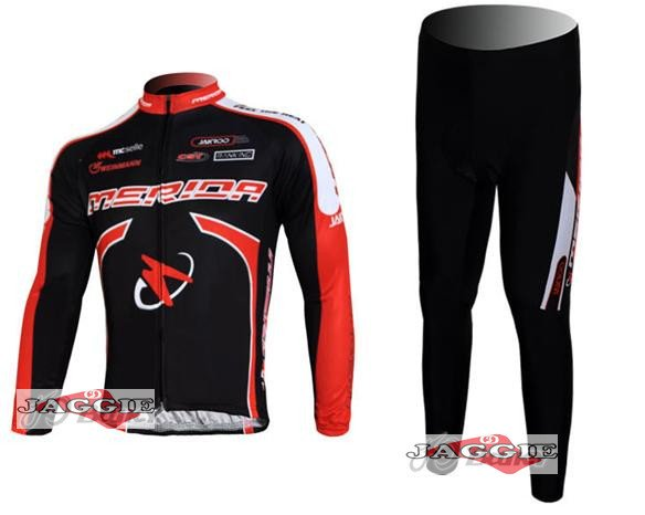 NEW Merida long sleeve cycling wear clothes bicycle/bike/riding jerseys+Z123 sets