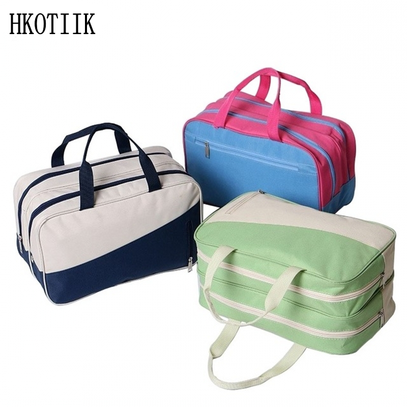 2017 Travel organizer waterproof nylon cosmetic bag high quality cosmetic bag large professional storage bag high quality travel 6 pieces set of luggage separate organizer large capacity storage bag cubic shoe bag travel bag
