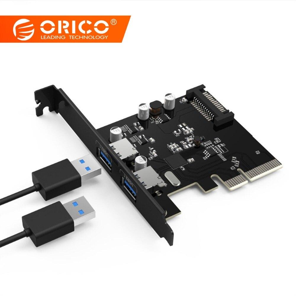 ORICO 2 יציאת USB3.1 כרטיס PCI-E מתאם PCI Express - ציוד היקפי למחשב