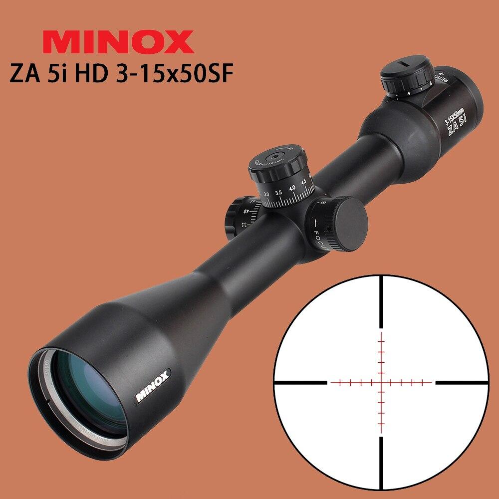 MINOX ZA 5i HD 3-15x50 SF tactique optique vue rouge verre gravé réticule lunette de visée latérale parallaxe chasse fusil portée