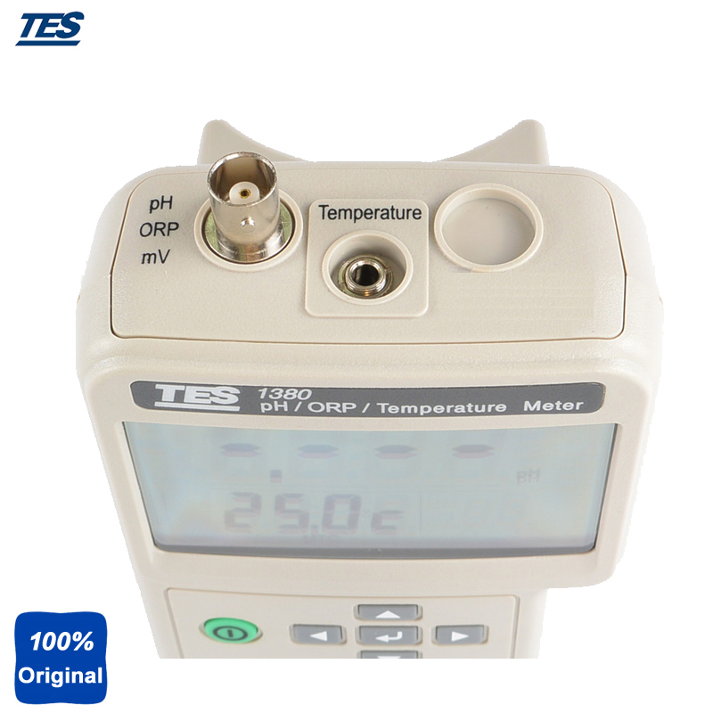 TES 1380K Multifunction Dual LCD Display PH Test ORP Meter Temperature Tester Equipment