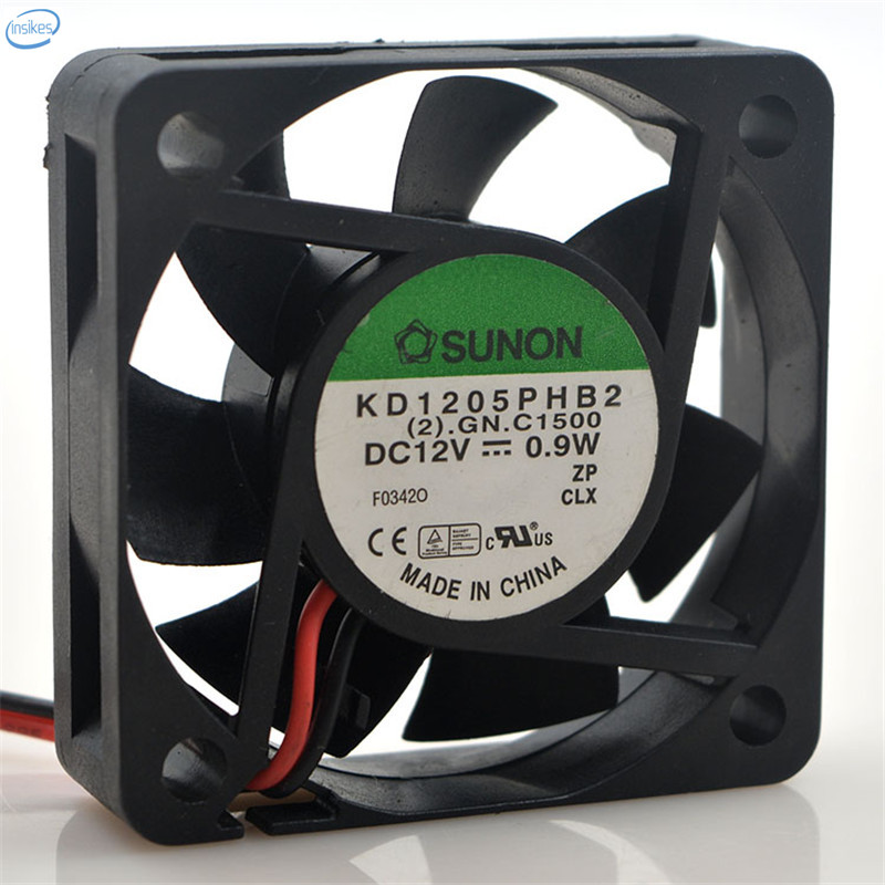 Original KD1205PHB2 Computer Double Ball Blower Cooling Fan DC 12V 0.9W 0.075A 5015 <font><b>50</b></font>*<font><b>50</b></font>*15mm 5700RPM <font><b>2</b></font> Wires image