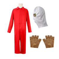 Movie Us Cosplay Costume Red Jumpsuit Halloween Party Costume for Women Men