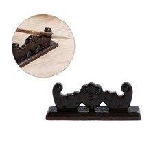 Vintage 4 Slots Chinese Calligraphy Pen Rack Holder Wooden Brush Rest Stand Elegant Figurines Miniatures