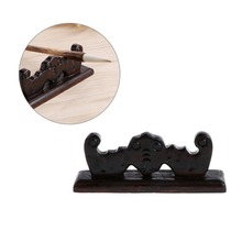 Vintage 4 Slots Chinese Calligraphy Pen Rack Holder Wooden Brush Rest Stand Elegant Figurines Miniatures