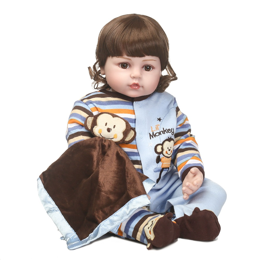 New design lifelike reborn baby doll soft real touch cute Monkey clothes toys and gift for children on Birthday and Christmas кратон next 200