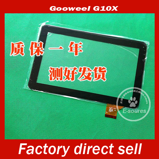 Black/White New 10.1 gooweel G10X Tablet Capacitive touch screen Touch panel Digitizer Glass Sensor Replacement Free Shipping black white new touch screen digitizer panel glass sensor replacement for 10 1 tablet mf 595 101f fpc free shipping