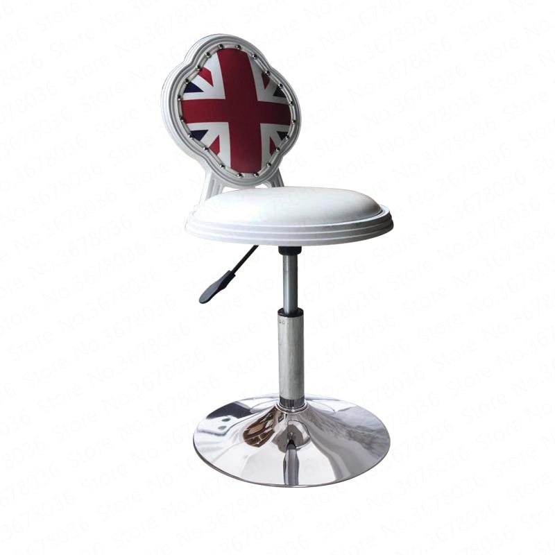 20%Bar Chair Modern Simple High Chair Bar High Bench Mobile Phone Shop Stool Back Bar Stool Home Lift Bar Chair
