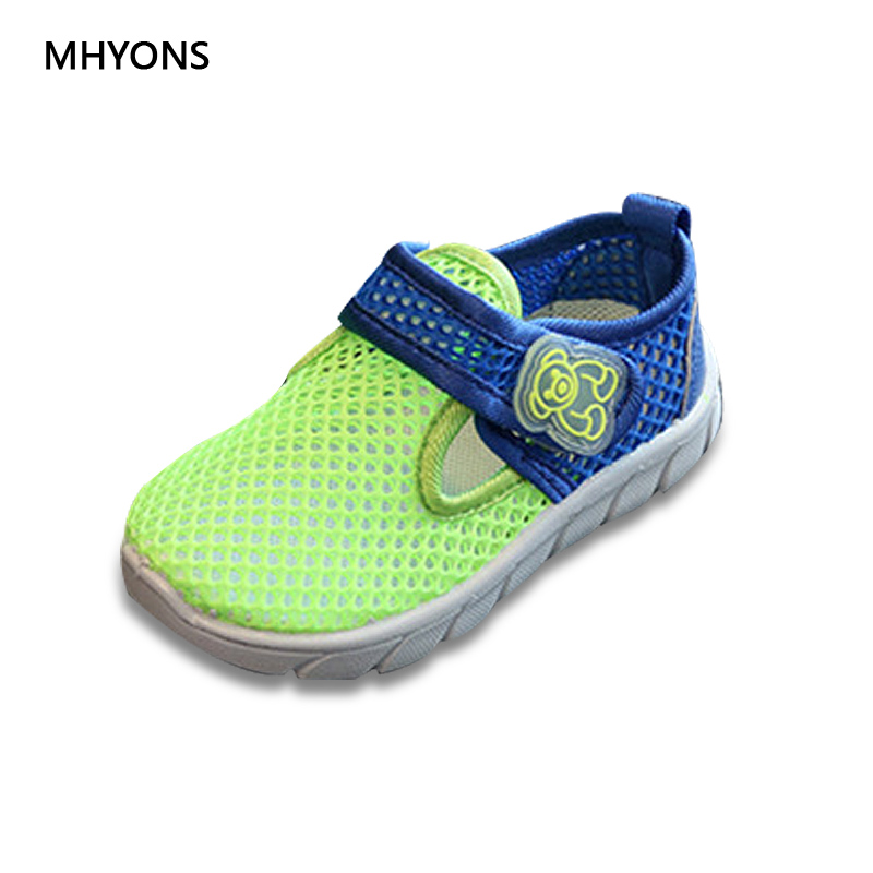 MHYONS Children Toe Covering Sandals for Boys 2018 Fashion Shoes Air mesh shoes Soft Bottom Girls Casual Mesh Sports Beach Shoes