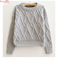 Jerseys Corto Suéteres Gruesos Mujeres de Invierno Camisetas Básicas Ocasionales Caliente Knitting Tops Barato Maglia