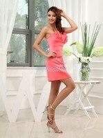 Darmowa wysyłka 2016 krótki mini vestidos formales brides maid dress formalna sexy czerwona sukienka plus rozmiar formalne Suknie Druhna