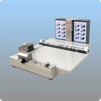 Fotoğraf kitabı yapımcısı mounter gömme montaj albümü ciltleme makinesi 12 inç + manuel kağıt kırma ve perforator makinesi