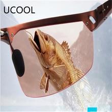 New Polarized Sunglasses Men Professional Fishing Glasses Pink Lens Night  Vision Driving Glasses Eyewear