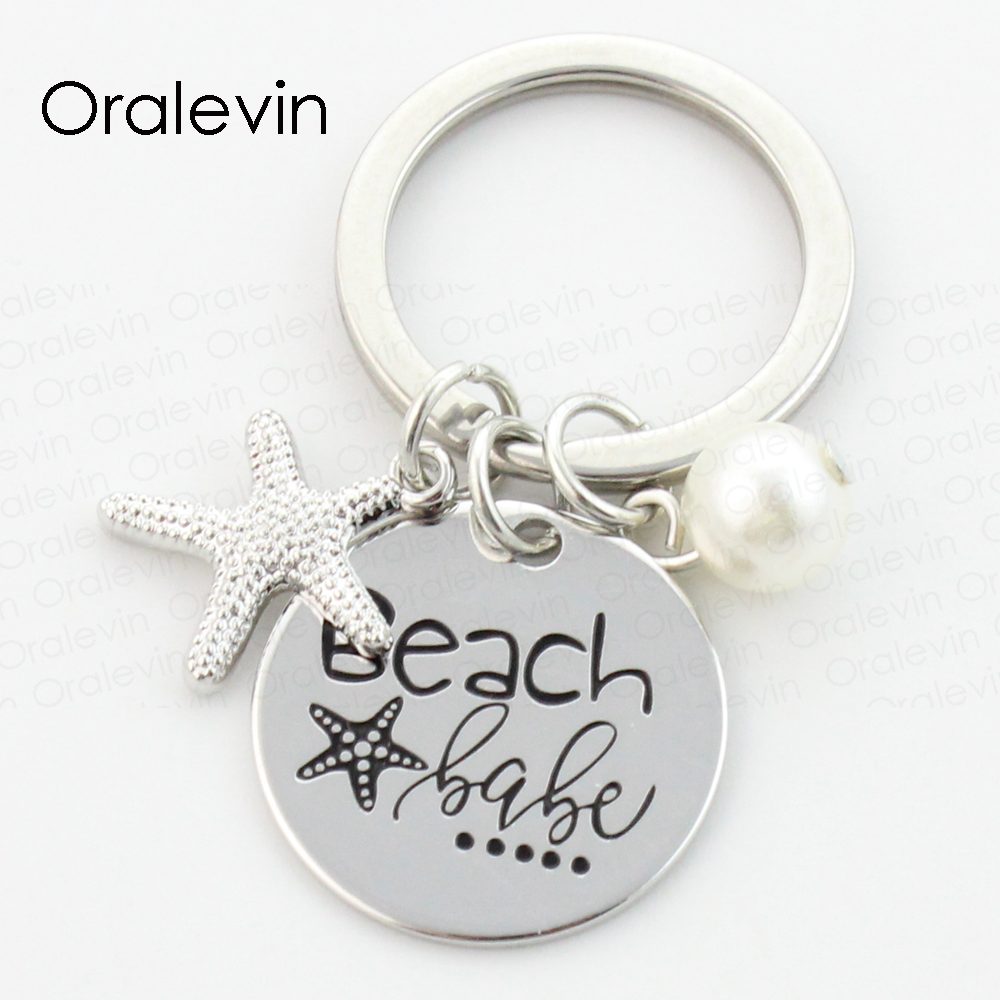 Wholesale Beach Babe Engraved Personalized Beach Charms