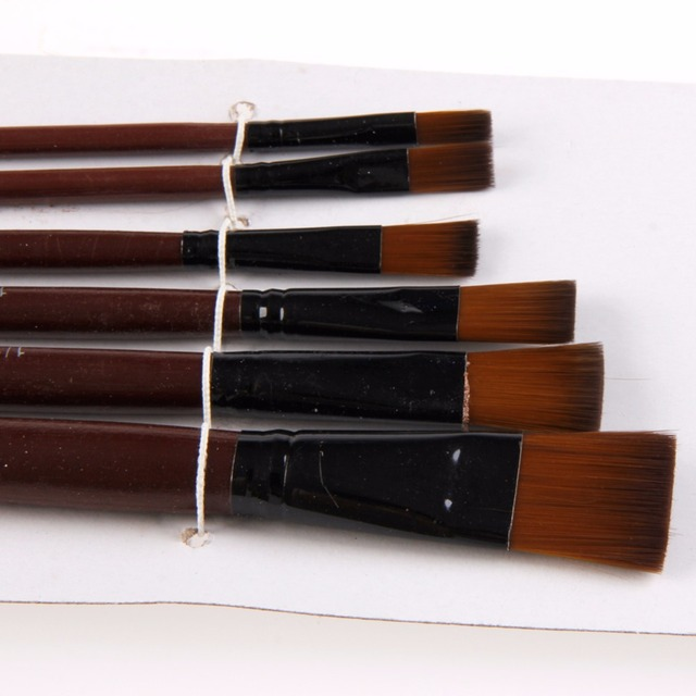 1 Set/6 Pcs Artists Brushes Nylon Acrylic Oil Paint Brushes For Artist Supplies Watercolor Set Painting Supplies