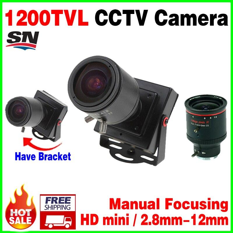 New Mini Manual focusing 2 8 12mm 1 3CMOS real 1200TVL Djustable Lens Color Video HD