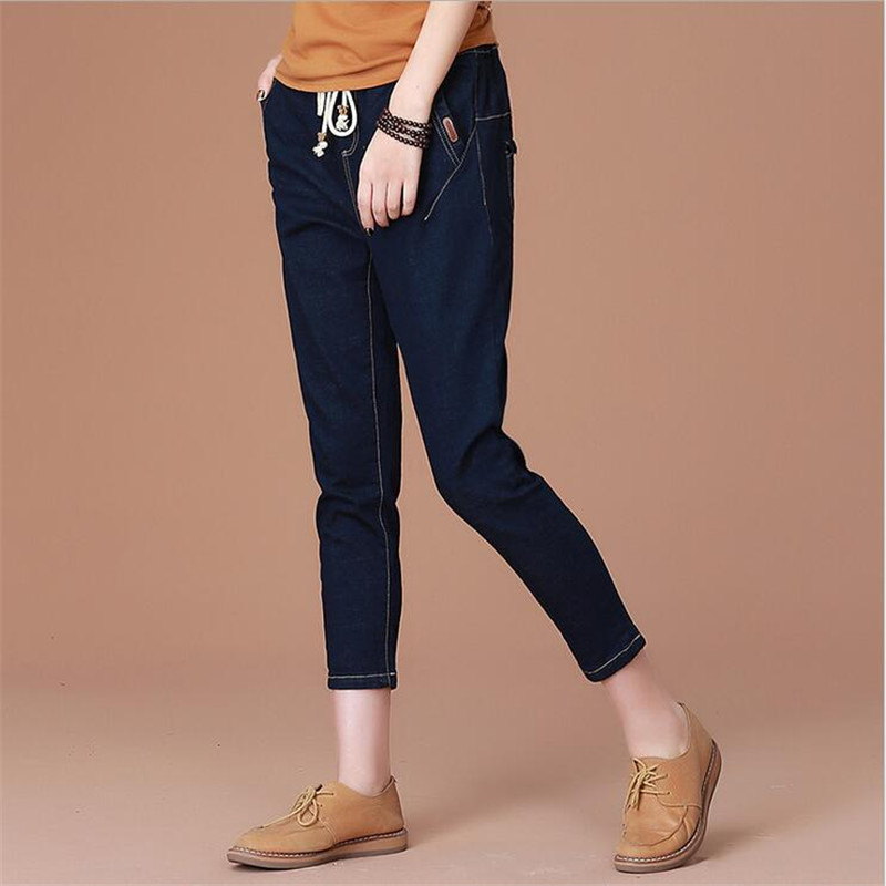 New Fashion Woman Jeans Women harem Pants Ladies Ankle length Pencil Pants Casual Loose Pants Capris