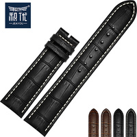 JEAYOU Grain Leather High Good Quality New Watch Strap Band For Tissot Longines Mido Casio Seiko