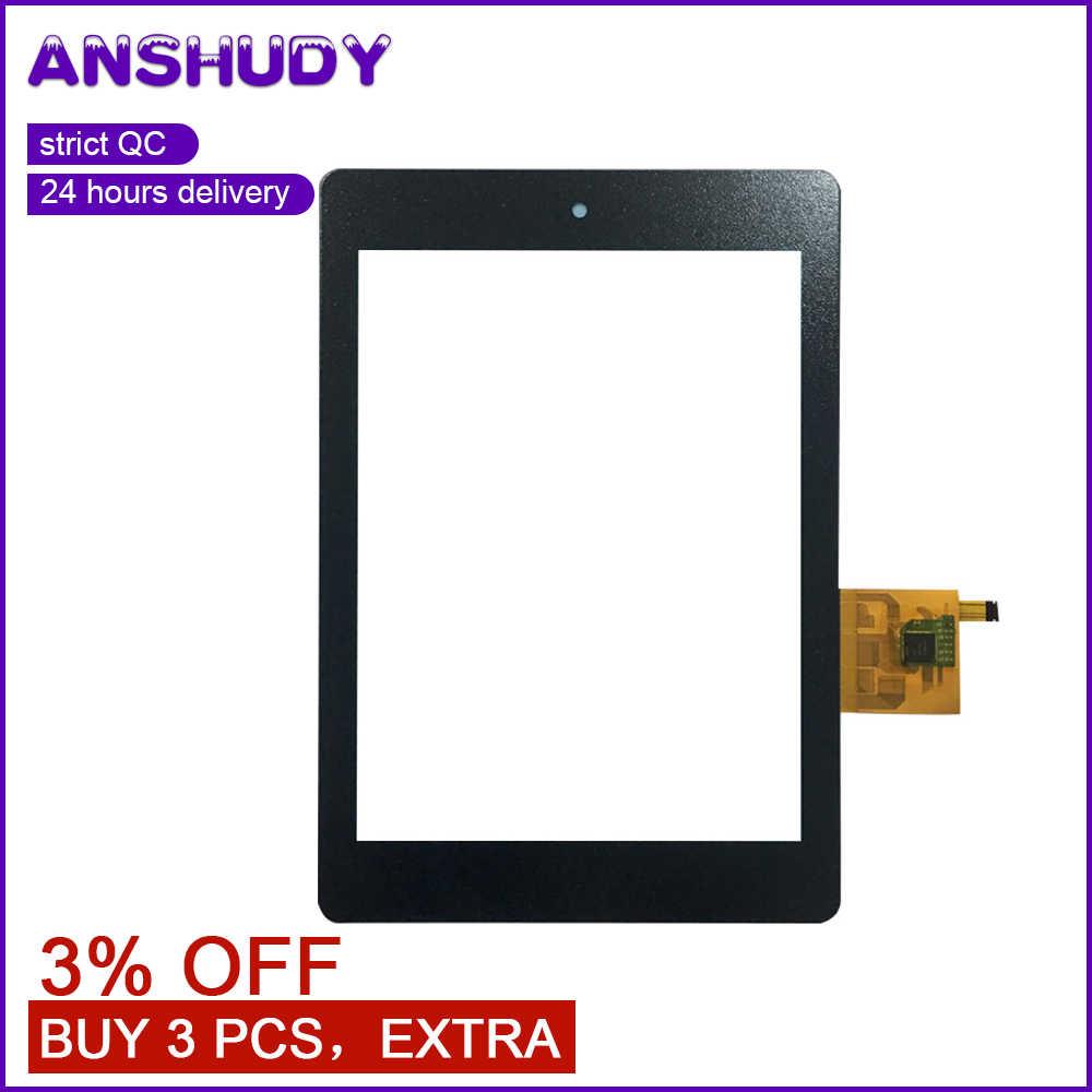 Için % 100% iyi Test acer iconia tablet A1 A1-810 A1-811 A1 810 Siyah dokunmatik ekran digitizer Sensörü Cam Değiştirme Aksesuarları