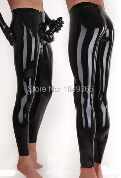 Latex Panties With Attached Condom Rubber Leggings Penis