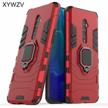 Oppo Reno 10x Zoom Case Soft Rubber silicone Hard PC Armor Metalen Vinger Ring Houder Phone Case Voor Oppo Reno 10x Zoom Back Cover