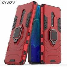 Чехол для телефона Oppo Reno 10x Zoom, мягкий резиновый, силиконовый, жесткий, PC, армированный металлический держатель для кольца на палец, чехол для телефона Oppo Reno 10x Zoom, задняя крышка