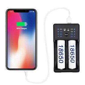 Image 3 - PALO 18650 batterie Ladegerät für 3,7 V lithium 18650 26650 21700 18350 und 1,2 V AA AAA Ni Mh akku