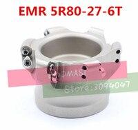 EMR 5R 80-27-6T כרסום cnc קאטר כלים כרסום פנים מיל עגול סוג מוסיף R5 RPMW1003