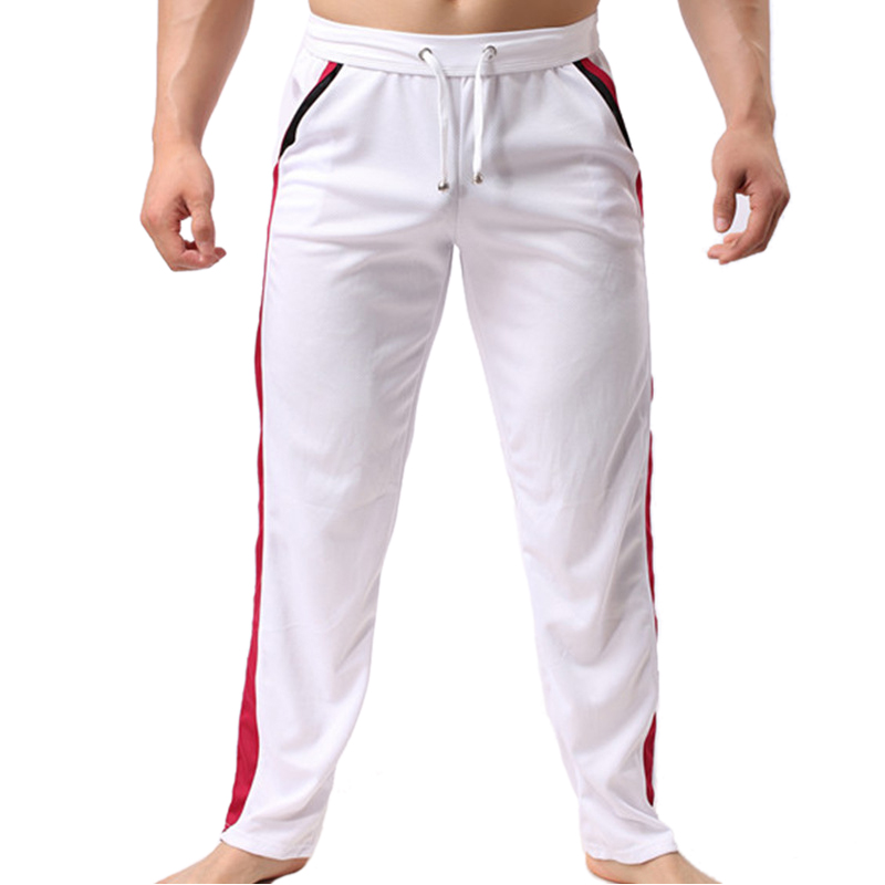 2017 tavaszi nyári új érkezés laza férfi fehér nadrág alkalmi divat lélegző stílus nadrág férfi alkalmi vékony hosszú nadrág
