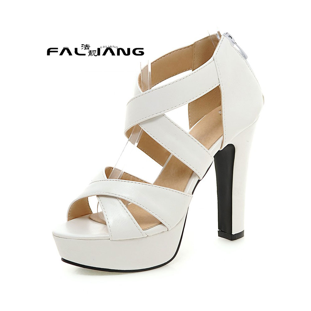ФОТО Big Size 11 12 13 14 15 16 17  Thick and sexy fashion   Pu help face women's shoes extreme high heels pumps woman for women