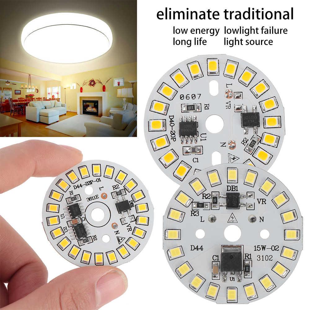 DIY LED הנורה מנורת SMD 15 W 12 W 9 W 7 W 5 W 3 W אור שבב AC220V קלט חכם IC LED שעועית עבור הנורה אור לבן 2019 הגעה חדשה אור