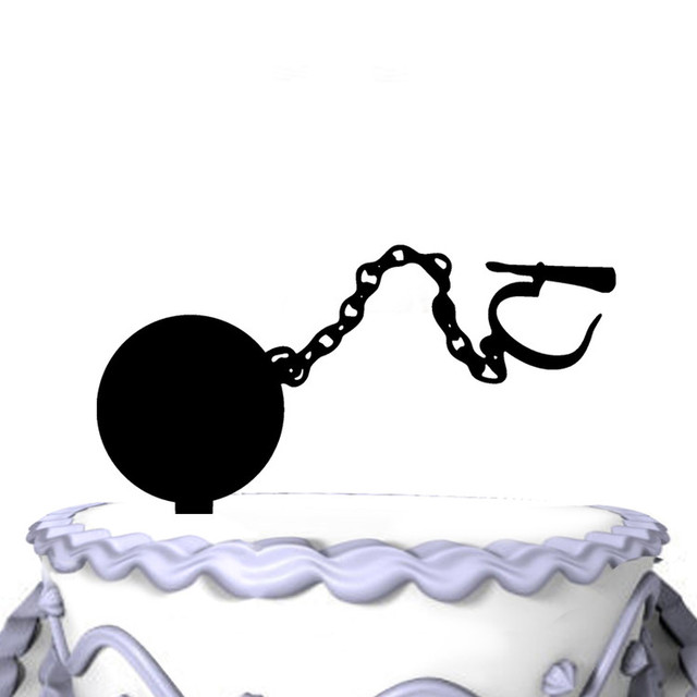 Meijiafei Personalized Ball Chain Wedding Acrylic Cake Topper