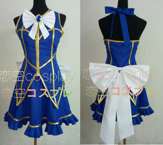 Cosplay Costume Fairy Tail Lucy Heartfilia Default Uniform Cosplay