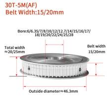 30 зубы HTD5M синхронный шкив внутреннее отверстие 6 мм-28 мм для Ширина = 15/20 мм шпоночным пазом для промышленных ворот ременный шкив AF 5 мм Шаг 5 м Тип 30T