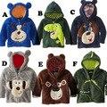 Venda quente novo estilo crianças meninos vestuário meninas suportar capuz de lã cão dos desenhos animados crianças camisolas casacos baby casacos