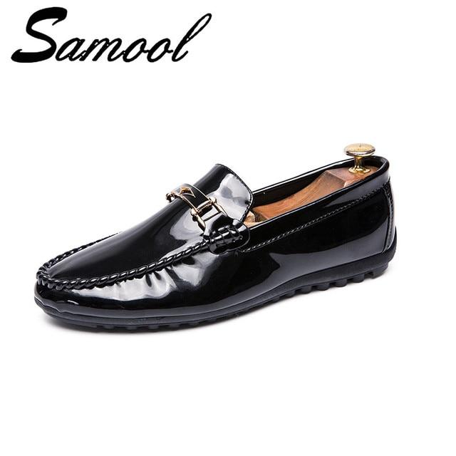 e046c7d7df6d29 Patent Leather Men Casual Shoes Slip On Leisure Men Driving Penny Loafers  High Quality Shoes Male zapatos de los hombres Aux3