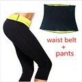 (Pantalones + de La Cintura de La Correa) Venta caliente Super Neopreno Pantalones Conjunto de Las Mujeres Que Adelgaza Establece Mujeres Corsés Faja Cintura Entrenadores