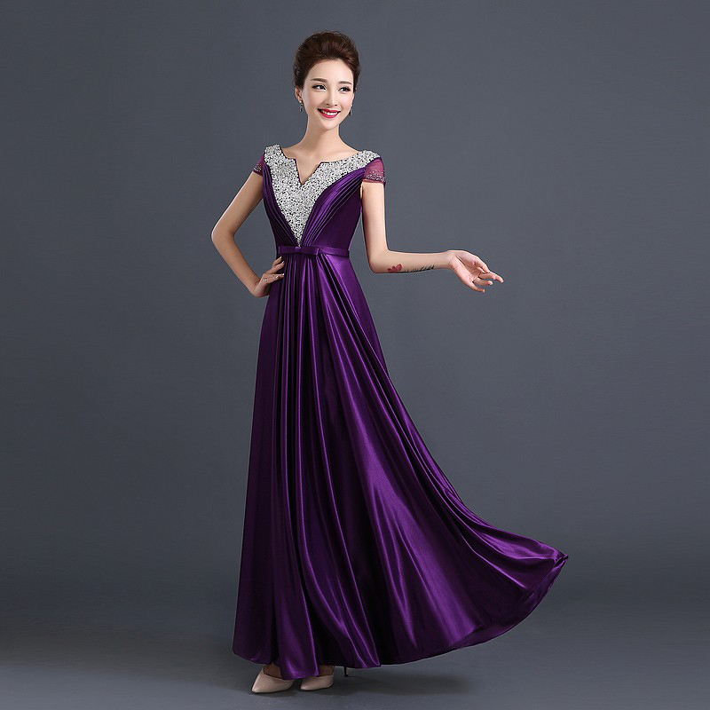 And Dresses Gold Purple Royal